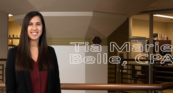 Staff Accountant Tia Marie Belle Earns CPA Designation