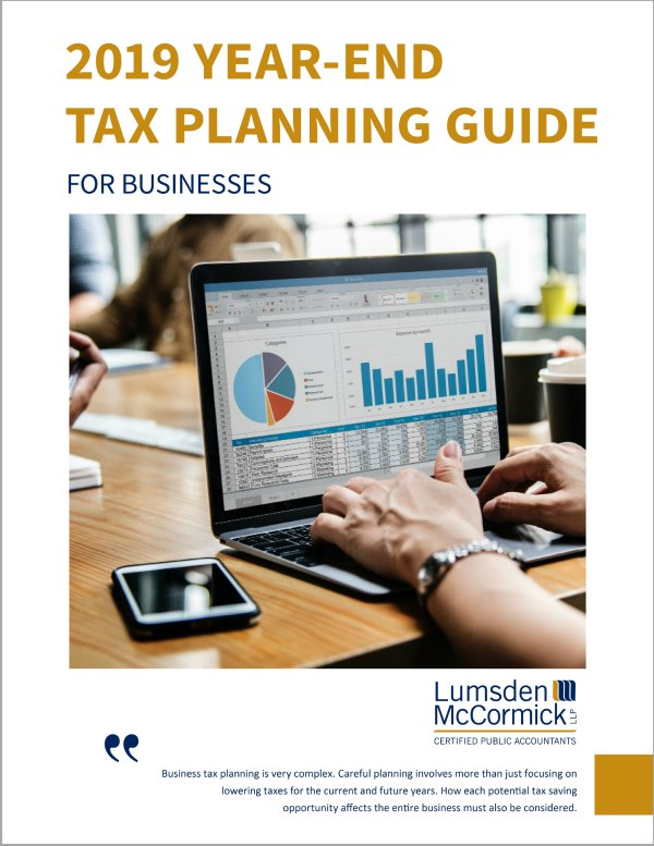 2019 Year-End Tax Planning Guide for Businesses