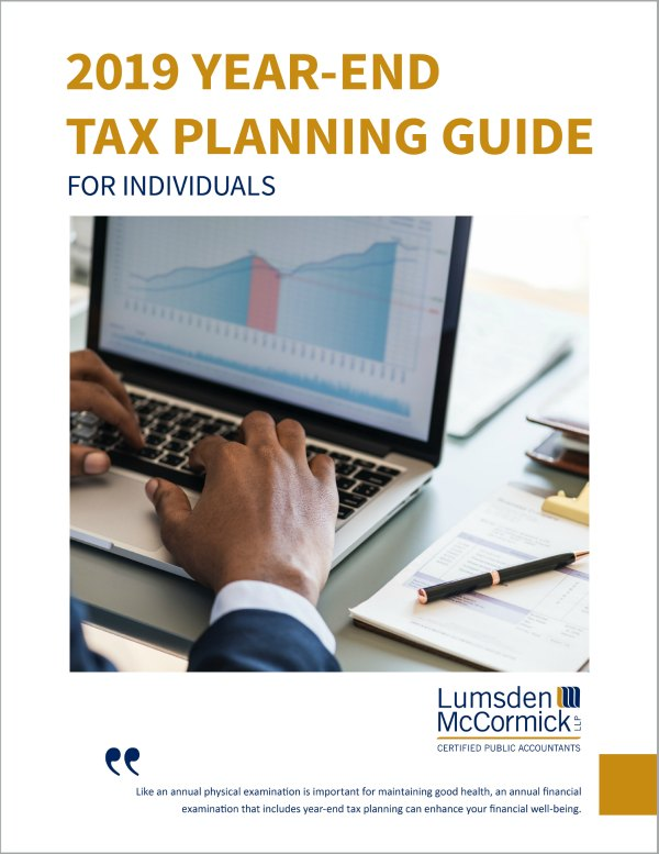 2019 Year-End Tax Planning Guide for Individuals