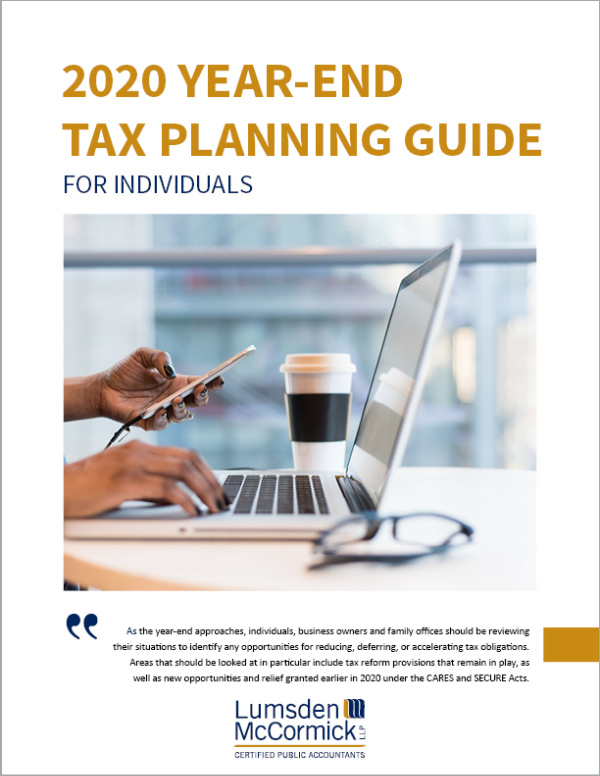 2020 Year-End Tax Planning Guide for Individuals