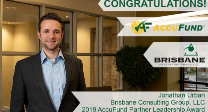 Jonathan Urban Earns 2019 AccuFund Partner Leadership Award