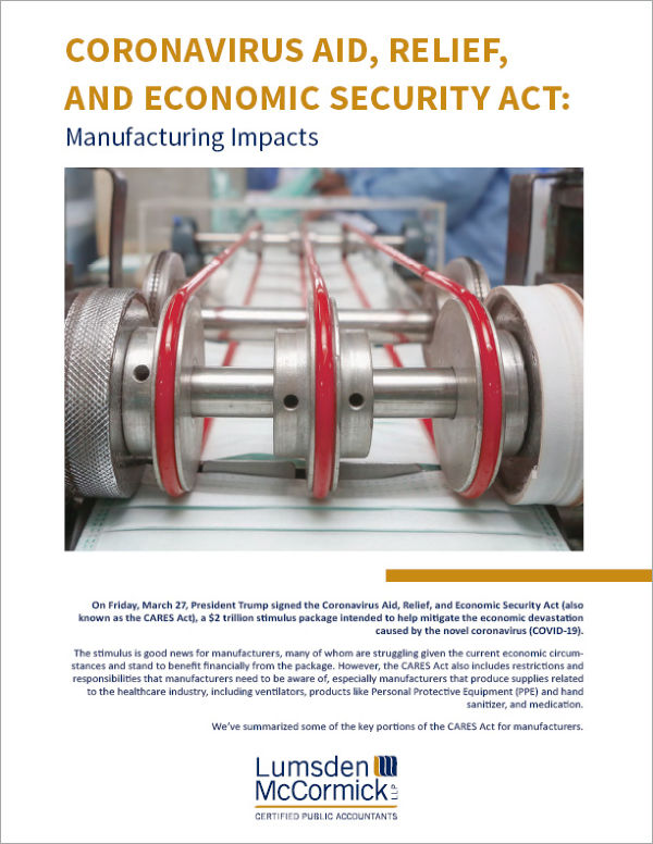 Coronavirus Aid, Relief, and Economic Security Act: Manufacturing Impacts